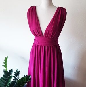 Lulu's Magenta Heavenly Hues Maxi Prom Formal Gown